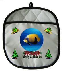 Blue Girdled Angelfish Christmas Pot Holder