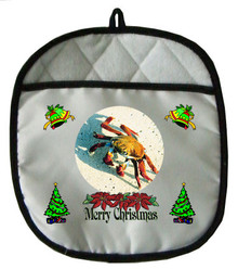 Crab Christmas Pot Holder