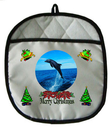 Dolphin Christmas Pot Holder