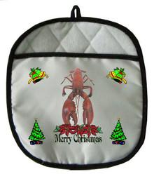 Lobster Christmas Pot Holder