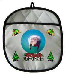 Manatee Christmas Pot Holder