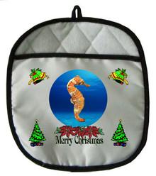 Seahorse Christmas Pot Holder