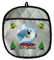 Seal Christmas Pot Holder