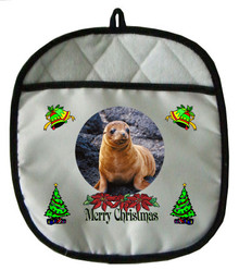 Sea Lion Christmas Pot Holder
