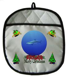 Shark Christmas Pot Holder