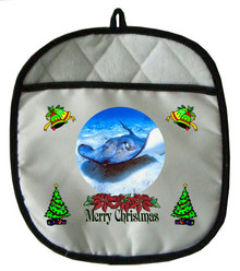 Stingray Christmas Pot Holder