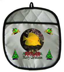 Yellow Tang Christmas Pot Holder