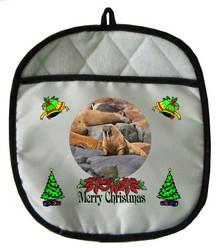 Walrus Christmas Pot Holder