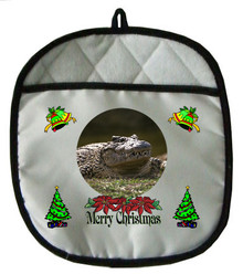 Alligator Christmas Pot Holder