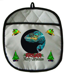Chameleon Christmas Pot Holder