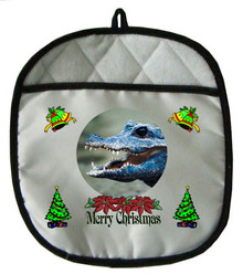 Crocodile Christmas Pot Holder