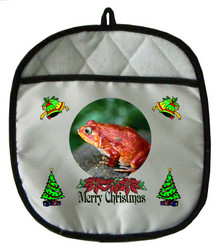 Tomato Frog Christmas Pot Holder