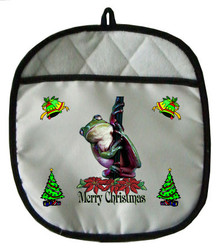 Tree Frog Christmas Pot Holder