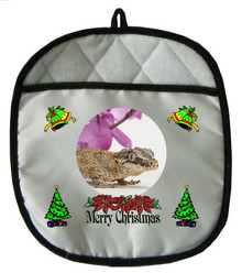 Gecko Christmas Pot Holder