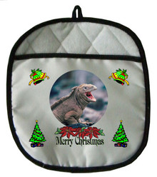Iguana Christmas Pot Holder