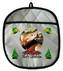 Copperhead Snake Christmas Pot Holder