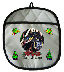 Mangrove Snake Christmas Pot Holder