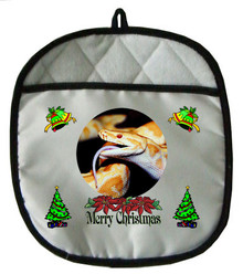 Python Snake Christmas Pot Holder