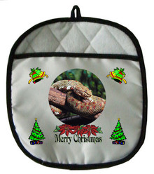 Viper Snake Christmas Pot Holder