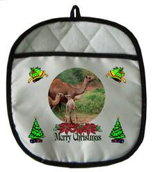 Camel Christmas Pot Holder