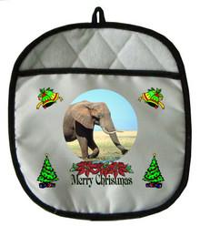 Elephant Christmas Pot Holder