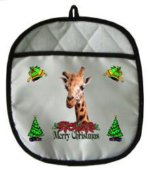 Giraffe Christmas Pot Holder