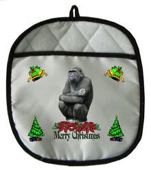 Gorilla Christmas Pot Holder