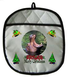 Hippo Christmas Pot Holder