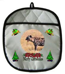Hyena Christmas Pot Holder