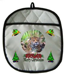 Jaguar Christmas Pot Holder