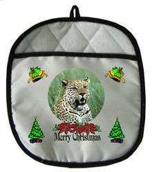 Leopard Christmas Pot Holder