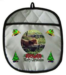 Lion Christmas Pot Holder