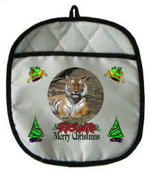 Tiger Christmas Pot Holder