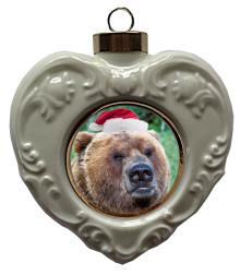 Bear Heart Christmas Ornament