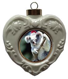 Koala Bear Heart Christmas Ornament