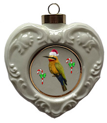 Bee Eater Heart Christmas Ornament