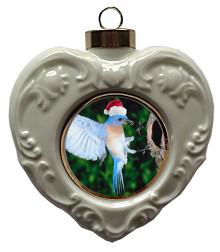 Bluebird Heart Christmas Ornament