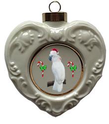 Cockatoo Heart Christmas Ornament