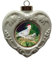 Dove Heart Christmas Ornament