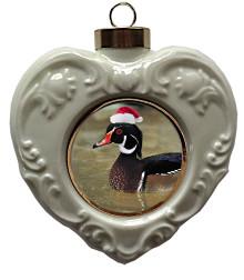 Duck Heart Christmas Ornament