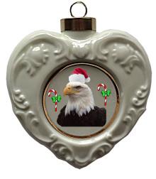 Eagle Heart Christmas Ornament