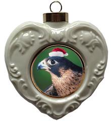 Falcon Heart Christmas Ornament