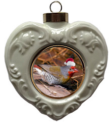 Finch Heart Christmas Ornament