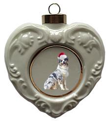 Australian Shepherd Heart Christmas Ornament