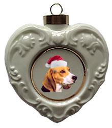 Beagle Heart Christmas Ornament