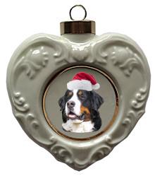 Bernese Mountain Dog Heart Christmas Ornament