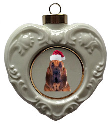 Bloodhound Heart Christmas Ornament