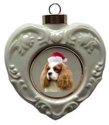 Cavalier King Charles Heart Christmas Ornament
