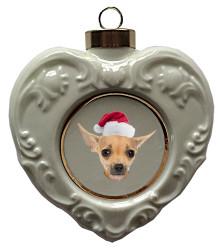 Chihuahua Heart Christmas Ornament