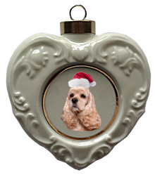 Cocker Spaniel Heart Christmas Ornament
